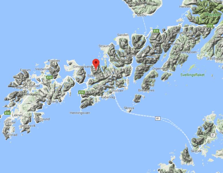 OMKOM I SKRED: Nordmann i 40-årene omkom søndag i et snøskred i Lofoten.