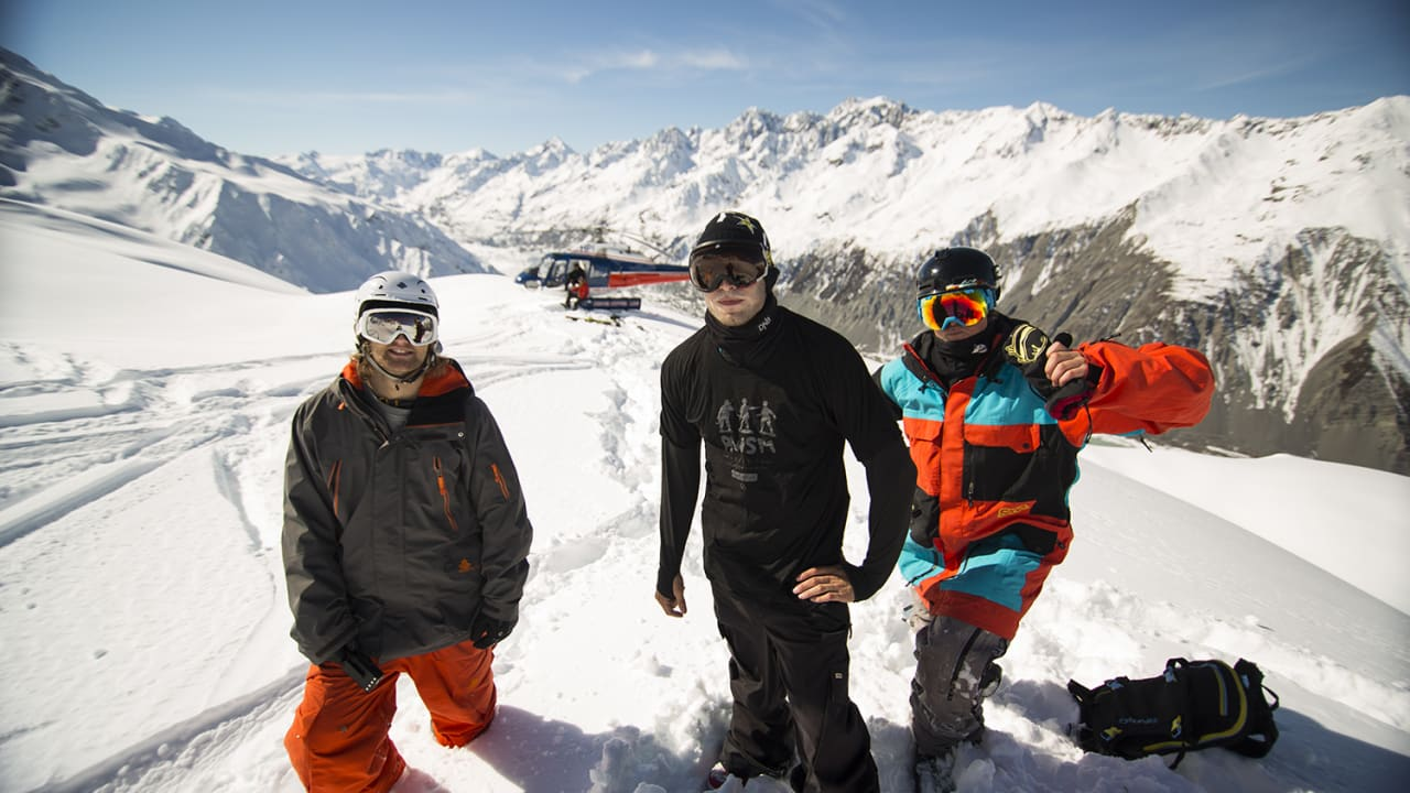 TREKLØVER: Aleksander Aurdal, Andreas Wiig og Tim Durtschi. Foto: Field Productions
