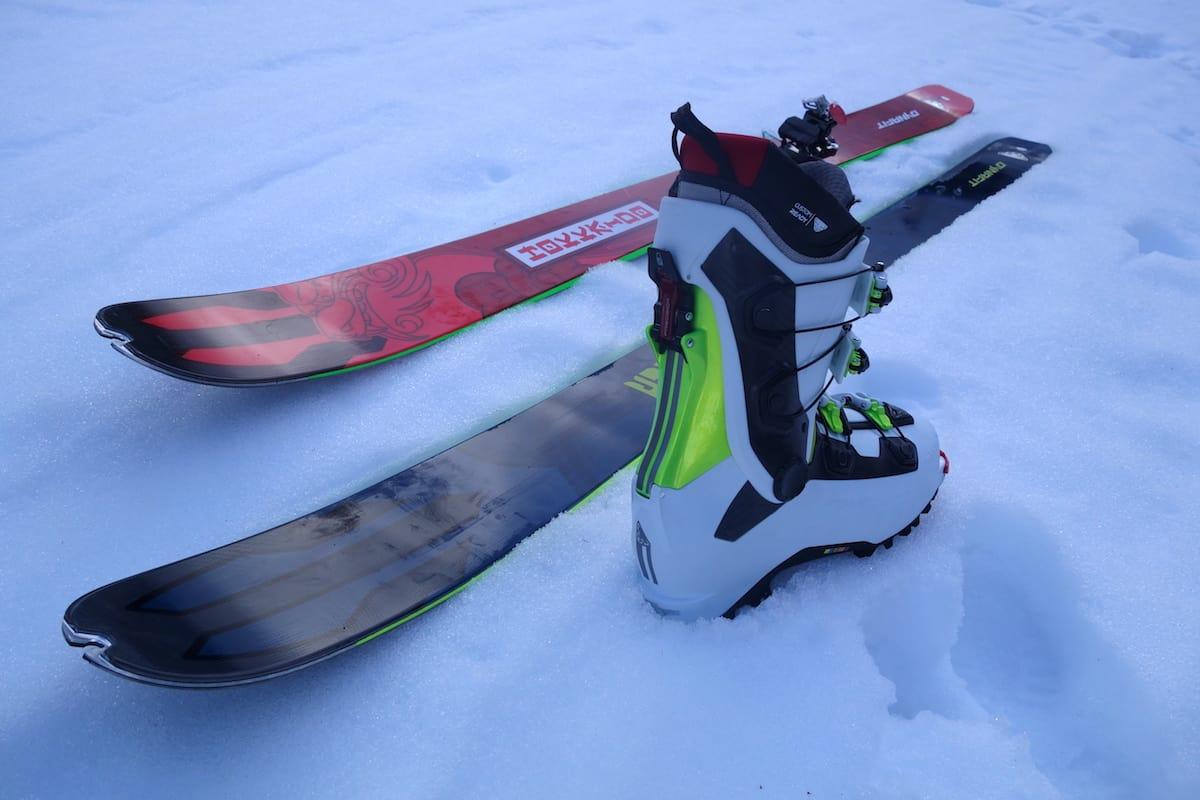 FREE TOURING: Støvelmodellen Khion (her i karbonutgave) og skiene Chugash og Hokkaido er de viktigste Dynafit-nyhetene for frikjørere. Foto: Erlend Sande
