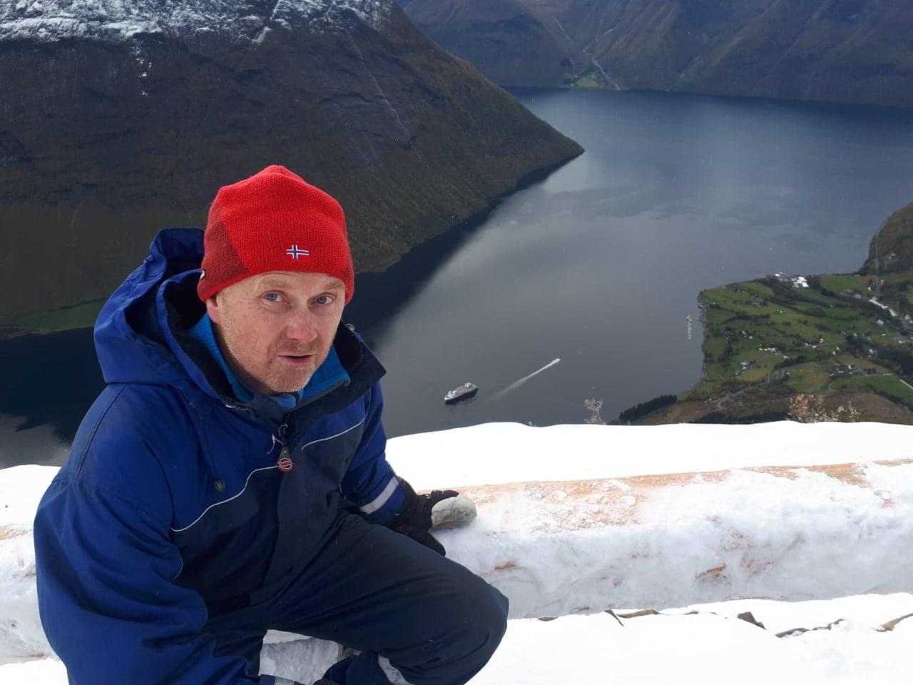 OMKOM I SKRED: Egil Åmbakk (51) fra Ørsta døde i skredulykken på Sunnmøre lørdag. Foto fra facebooksiden Saksa Turistforening.