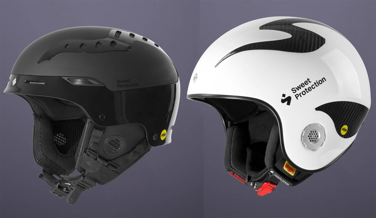 NYTT FRA SWEET: Volata (til høyre) og Switcher er nye hjelmer fra Sweet Protection neste sesong. Se alle variantene i galleriet under artikkelen!