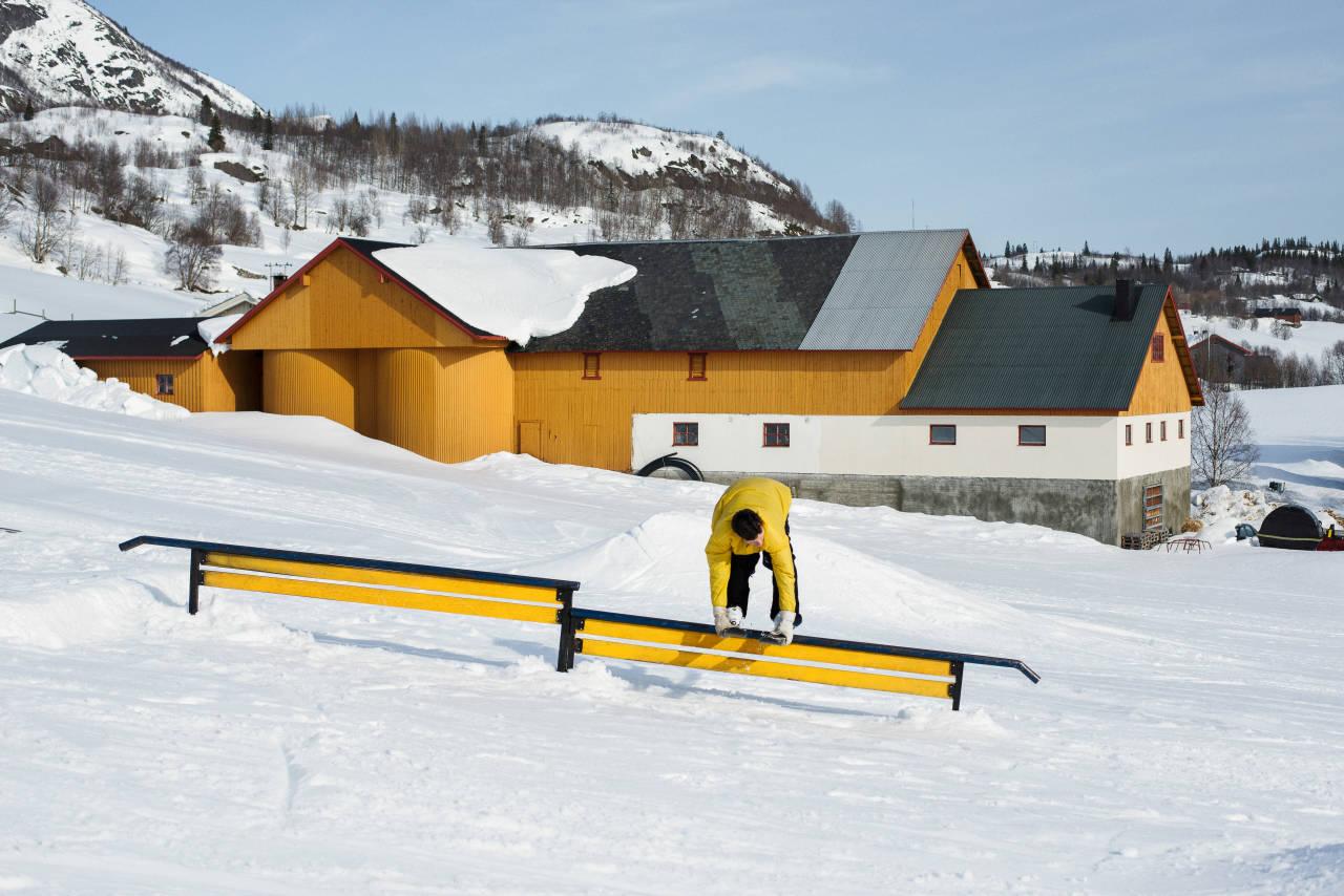 MATCHER: Sigbjørn Tveit finner seg til rette i Hemsedal Railgarden. Foto: Anki Grøthe