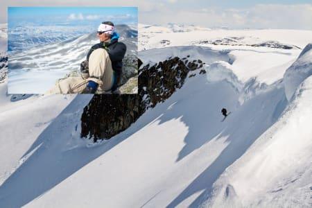 KORT OG GODT: Idar Aaboen (innfelt) melder om en fin sesong på Stryn sommerski, selv om den ble uvanlig kort. Foto: Emil Eriksson og Endre Løvaas