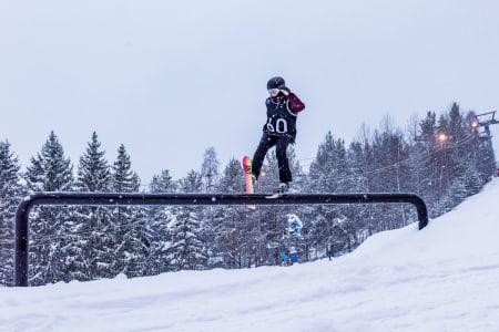 BESTE JUNIOR: Tiril Hansen Pytte leverte et godt run under norgescup åpningen i Drammen -  som holdt til førsteplass i jenter junior. Foto: Kåre Fjelstad.