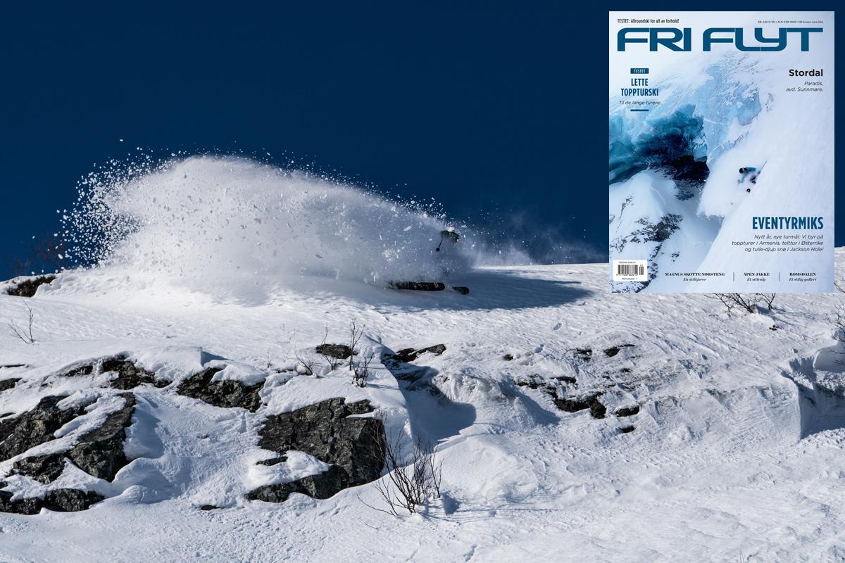 TRE I EN: Både Karsten Gefle, Stordal og den nyeste utgaven av Fri Flyt er på plass i denne saken. Foto: Bård Basberg (og Oskar Enander som har tatt coverbildet på bladet)