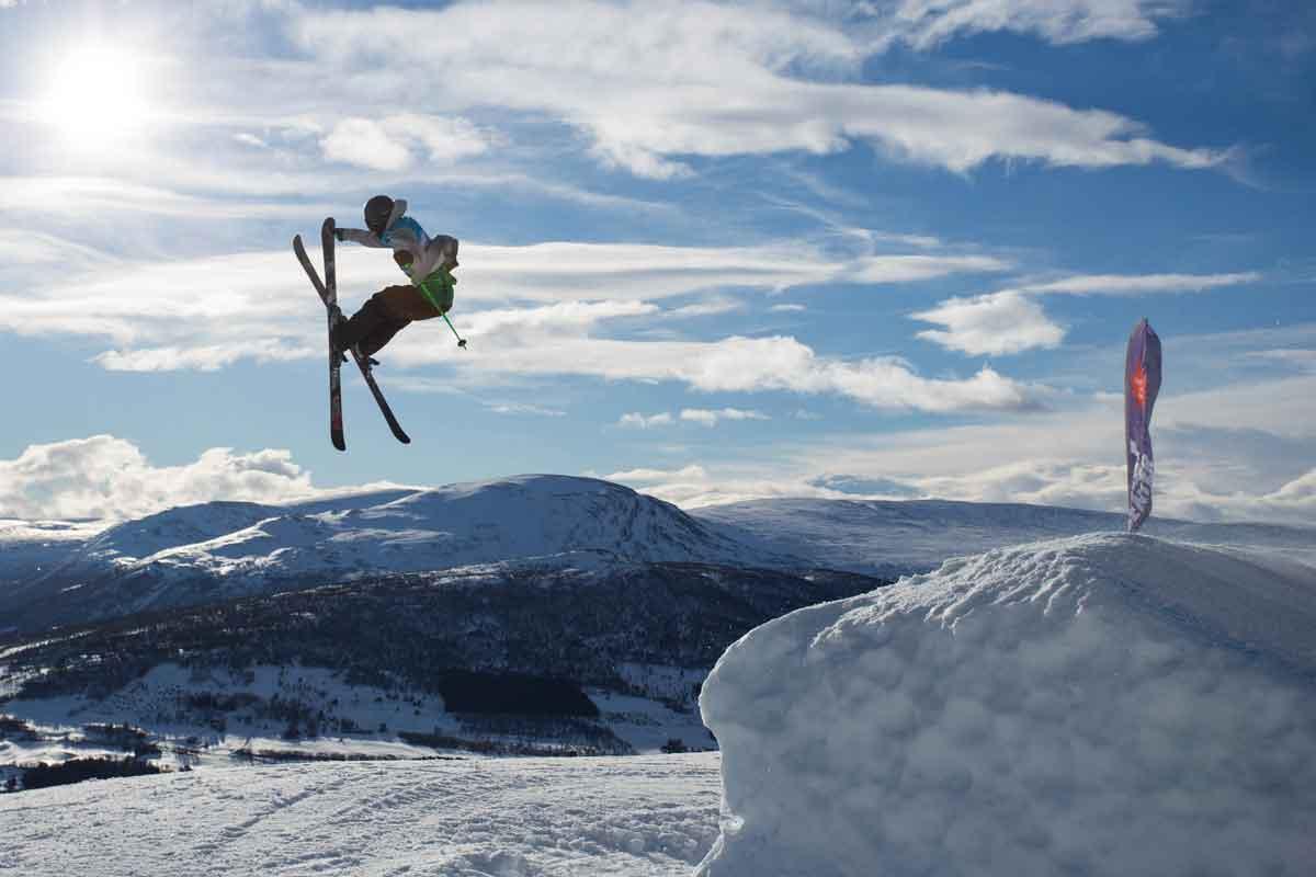 ENDELIG FOR HOPP: Ulrik Hopp fra Heming tok sin første norgescupseier i Oppdal i dag. Foto: Tore Meirik