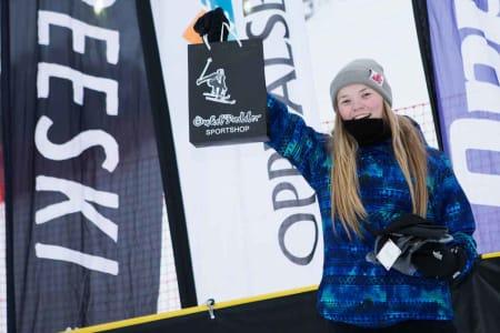 Tora Johansen var eneste jente i juniorklassen, men dro på fælt selv om hun var sikra seier.