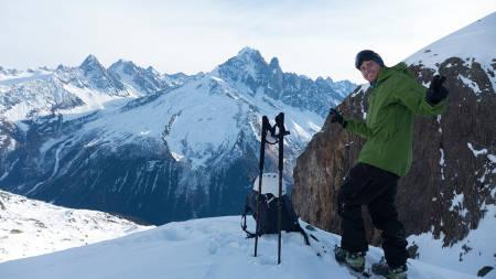 CHAMO: Nikolai Schirmer på plass i Chamonix. Foto: Jussi-Oskari Taka
