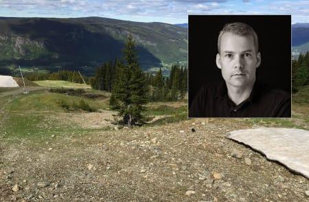 BYGGER: Roger Hjelmstadstuen har allerede begynt utbyggingen til Lillehammer-OL. Foto: Roger Hjelmstadstuen / Facebook