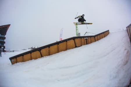 VANT RAILJAM´ EN: Felix Usterud gikk til topps i fredagens railjam under Open Klasse i Myrkdalen. Foto: Andreas Løve Storm Fausko