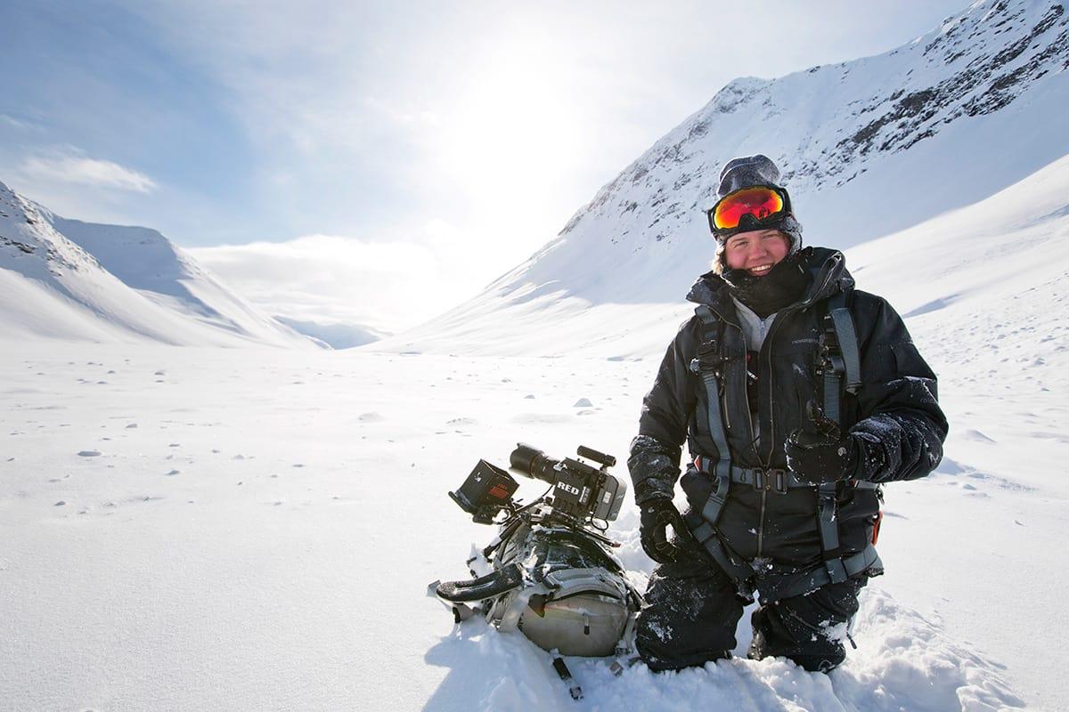 RØRT: Filip Christensen er svært fornøyd med den statlige støtten fra NFI. Her fra en filminnspilling med Field Productions. Foto: Frode Sandbech