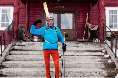 KORT REKORD: Både tiden Gjermund Nordskar brukte på Høgruta, og tiden rekorden sto, er temmelig kort. Knappest lenger enn filmen egentlig - og den ser du her.