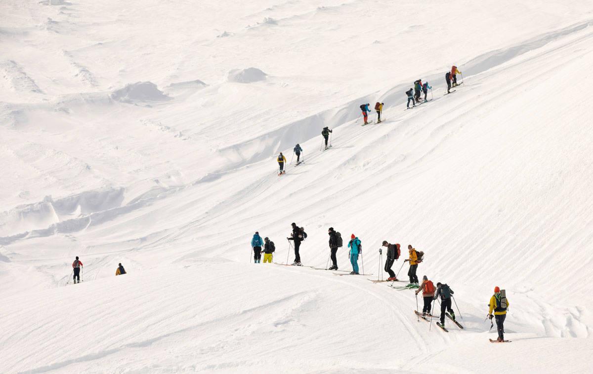 PÅ FONNA: Plan b fungerte fint under toppturfestivalen i Rosendal, som slett ikke ble dårligere av mer beskjedne snømengder enn vanlig. Foto: Rolf Christian Mehl