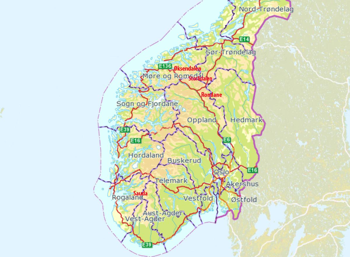 Flere skred i Sør-Norge