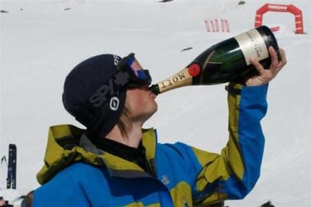 Nestvold feirer sammenlagtseieren norgescupen i freeride.