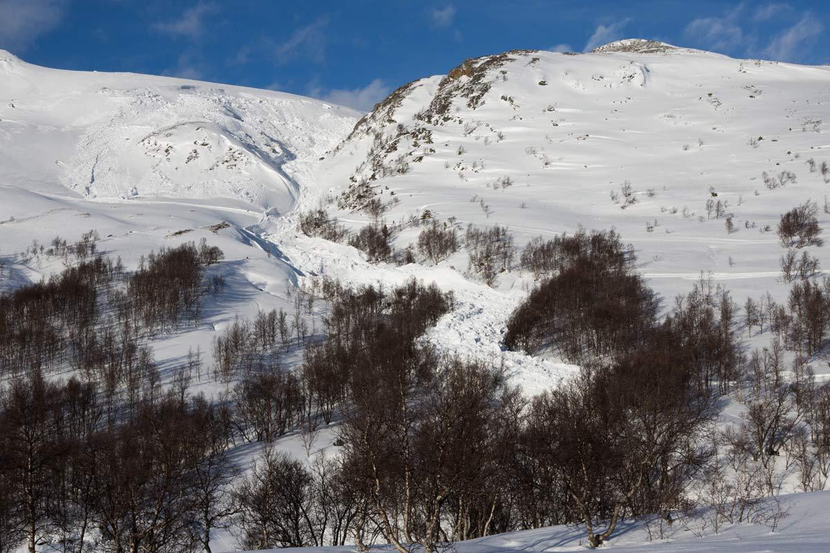 KJEMPESKRED: Skarbekkdalen ligger mellom Ådalen (til høyre på bildet) og Vangslia i Oppdal skisenter. Foto: Tore Meirik