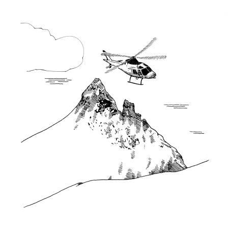 Fri Flyt har fått tillatelse til å publisere utdrag fra Eivind Eidslotts nye bok «Helt ute - et skåblikk på fjellfolk, skiturer, turistforeningshytter og løping generelt». Illustrasjon: Frode Skaren/byHands