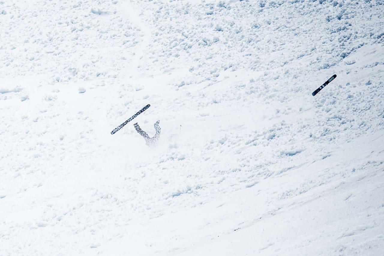 HARDT SATSA: Christopher Frankum gikk på et av dagens hardeste tryn. Foto: Vegard Breie