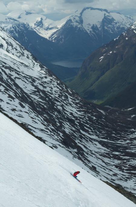 FAGRE STRYN: Lite å utsette på omgivelsene på Stryn.