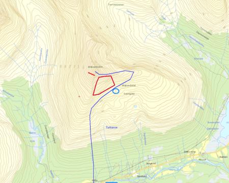 ULYKKESSTEDET: Tragedien skjedde på Blåbærfjellet i Tamokdalen i Troms.