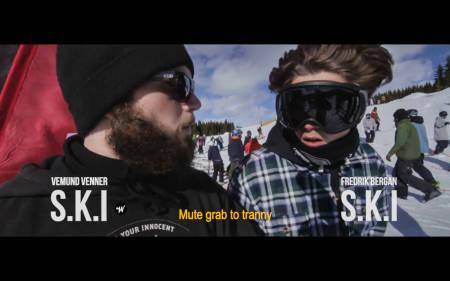 STILLE START: Vemund Venner og Fredrik Bergan starter showet med en mute grab til tranny.