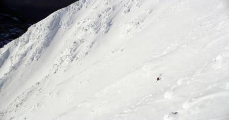 CRUISING: Baksiden av Gaustatoppen bød på strålende skiføre og ypperlige forhold. Foto: Ole Marius Elvestad