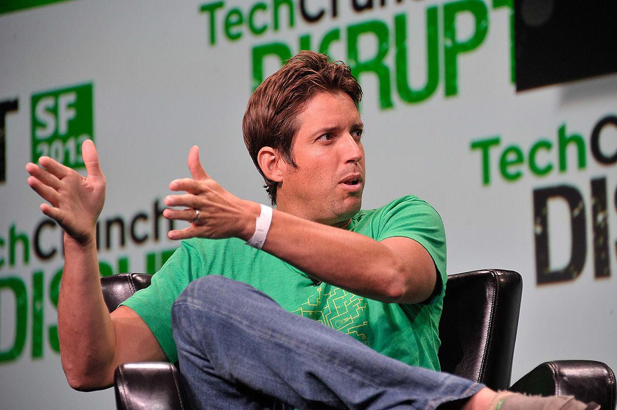 SLITER: CEO i GoPro, Nick Woodman, har mer enn nok å tenke på i jula. Her fra en teknologimesse i 2013.  Foto: Wikipedia Commons