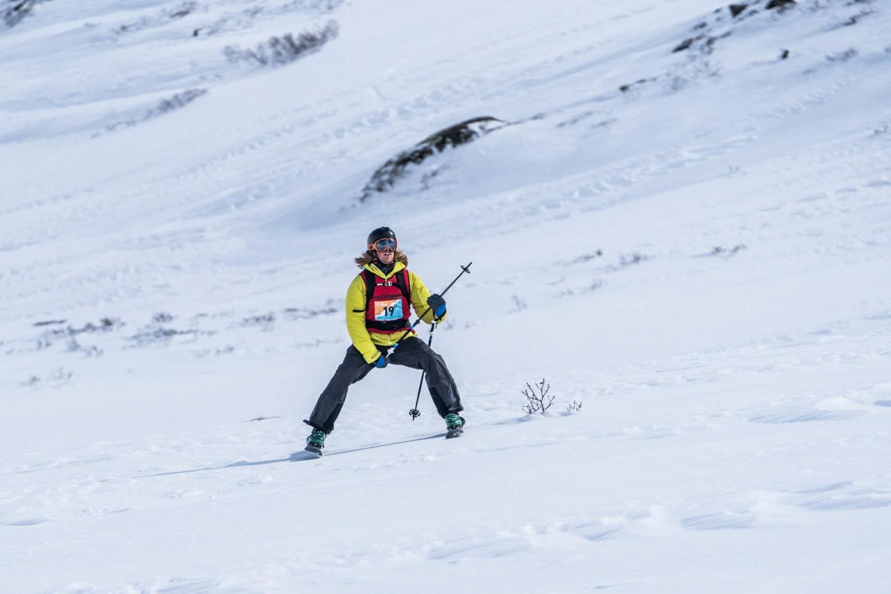 VANT: Trygg Lindkjølen var fornøyd med egen kjøring. Bilde: Bård Basberg/Heftyes