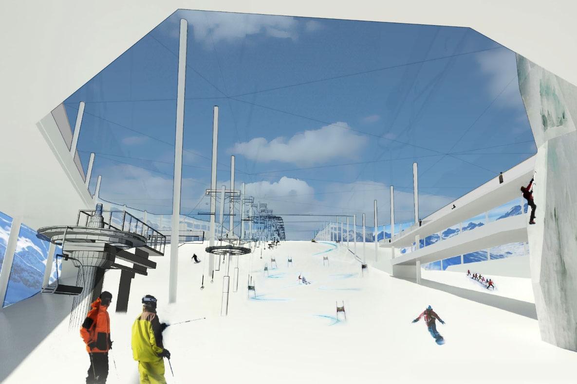 SKIHALL: Slik skal skihallen se ut fra innsiden. Foto: Skihallen