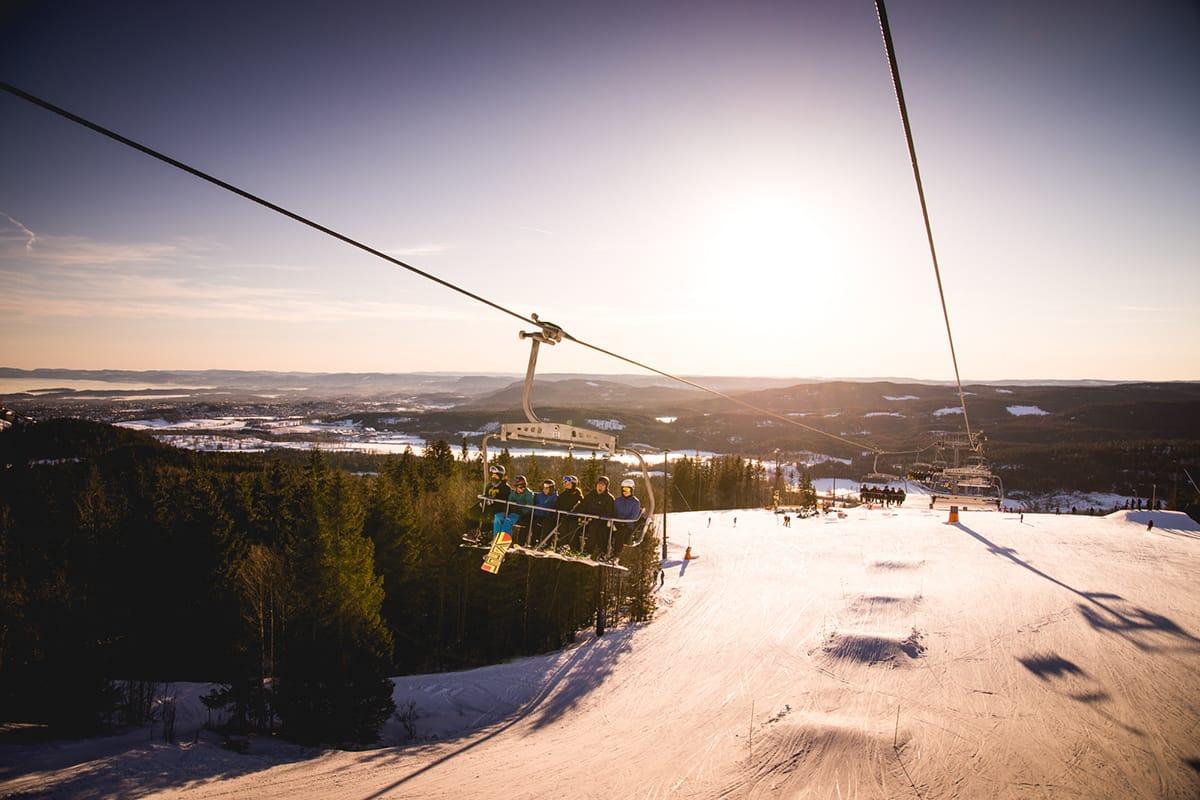 ØKTE: Oslo Vinterpark økte mest av alle i Norge denne sesongen. Foto: Oslo Vinterpark