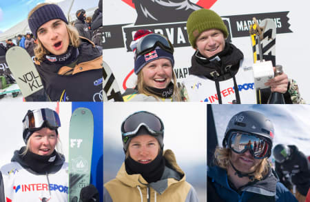 LANDSLAGET: Øverst fra venstre: Johan Berg, Tiril Sjåstad Christiansen, Felix Usterud, Johanne Killi, Øystein Bråten og Aleksander Aurdal.