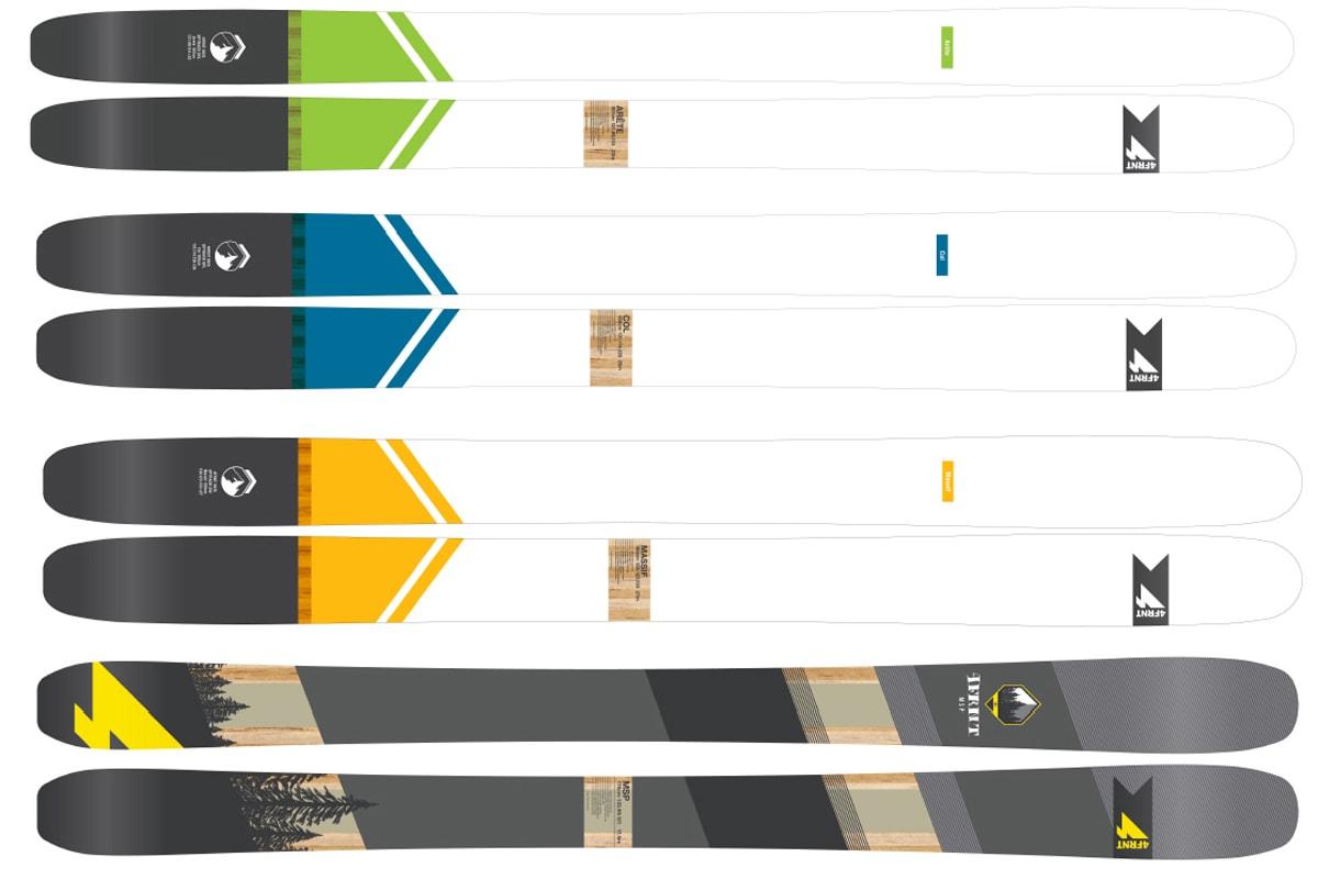 NYHETER: Tre nye og en relansert modell fra 4frnt. Fra toppen; Arete, Col, Massif og MSP.