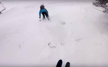 KRAGEBEIN: Dette bildet er tatt et halvt sekund før Vebjørn Enersen knekker kragebeinet sitt i fire eller fem biter, foran kameraet til Robert Ruud.