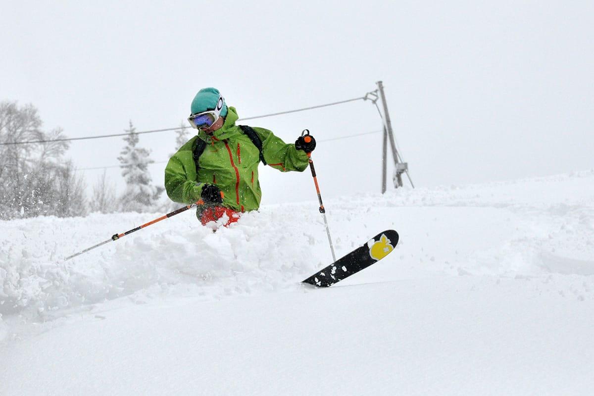 DYPT: Slik så det ut i Oslo Vinterpark torsdag denne uka. Foto: @thomasfoyn, Thomas Berge Foyn