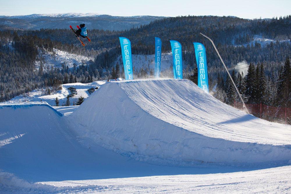 BANEBRYTENDE: Terrengparken i Vassfjellet blir Norges første komplette park som er finansiert på samme måte som vanlige idrettsanlegg. Arkivfoto: Nor Freeski