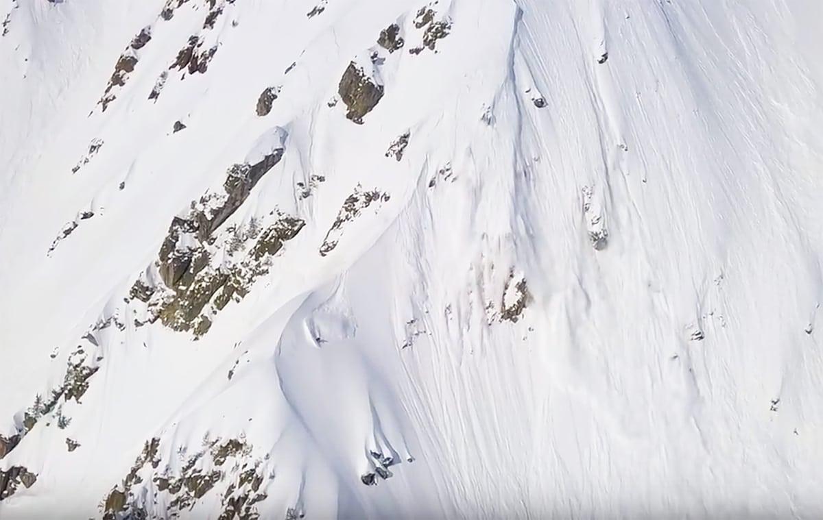 ALASKA-AKTIG: Storfjellskjøring av temmelig dramatisk type i Brevent i Chamonix.