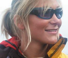 SKIPROFF: Karina Hollekim (29) fra Oslo har vært profesjonell skikjører de siste fem årene.