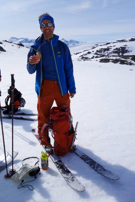 OGSÅ PÅ TUR: Gjert Grødal fra Bre og Fjell ledet en gruppe som gikk de tre første dagene av turen.