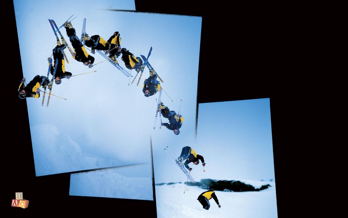 DOBBELFLIP: Patrik Søreide var en av de første som fikk en dobbelflip-sekvens på trykk i Fri Flyt. Dette er fra magasin nummer 3 i mars 1999. Foto: Dan Holm