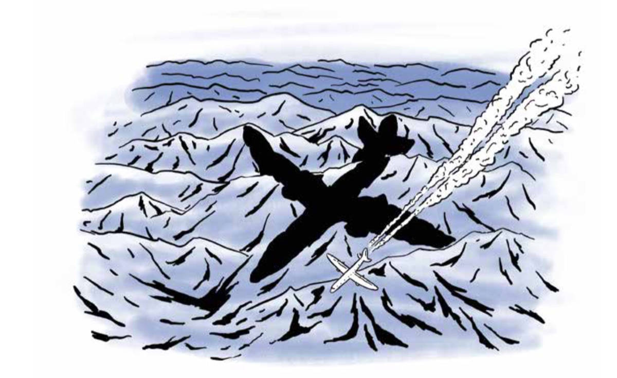 MER ENN KLIMA: Co2-utslipp er en åpenbar grunn til å fly mindre. Men Fri FLyt-redaktøren har også en annen motivasjon. Illustrasjon: Didrik Magnus-Andresen