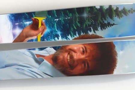 BOB ROSS: Internett-favoritten Bob Ross hylles med skomodell fra J Skis. Foto: J Skis