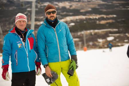 Mikkel Berg (til venstre) og Kronprins Haakon