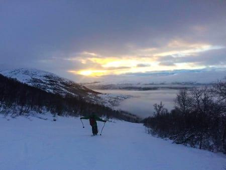 OPPKLARENDE: Lyset var fint på Bjorli, bedre enn snøen. Foto: Brynjar Åmot