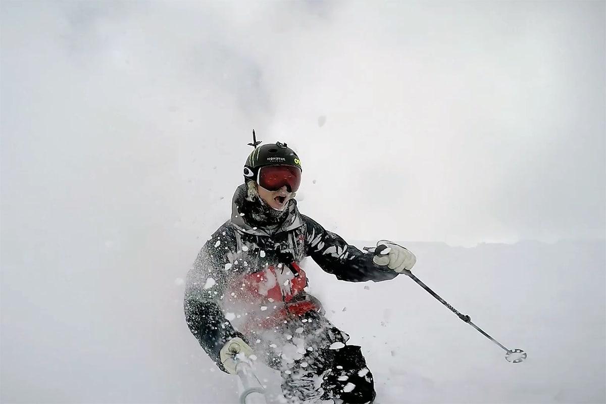 PUDDER: Slik så det for Wester i Alpene. Foto: Skjermdump