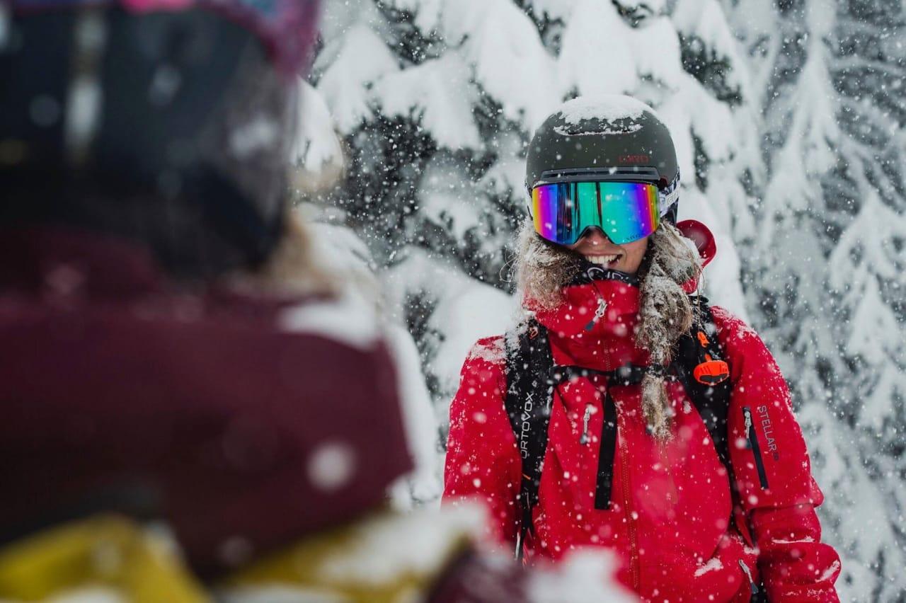 OH CANADA: Ida trives best der snøen ligger, helst av den dype sorten. Foto: Mattias Fredriksson