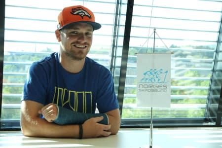 NY TRENER: Luke Allen (34) fra USA er Norges nye landslagstrener i freeski. Foto: NSF