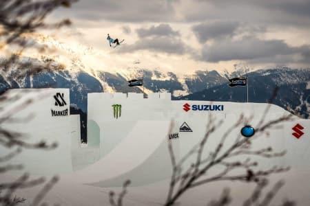 NINE QUEENS: Det var under den spektakulære konkurransen i Østerrike i midten av mars at det gikk galt for Johanne Killi. Foto: Nine Queens