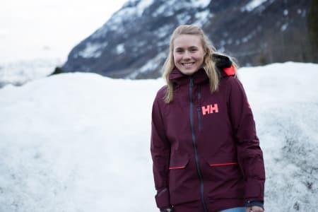 FAVORITT: Kamilla Bratteteig fra Røldal ligger godt an til å vinne norgescupen i frikjøring sammenlagt. Foto: Tore Meirik