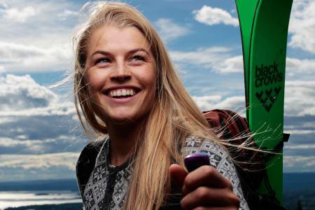 OL-GULL?: Hedvig Wessel satser for fullt mot OL 2018 - samtidig som hun herjer i norske frikjøringskonkurranser. Foto: Lars Myhren Holand