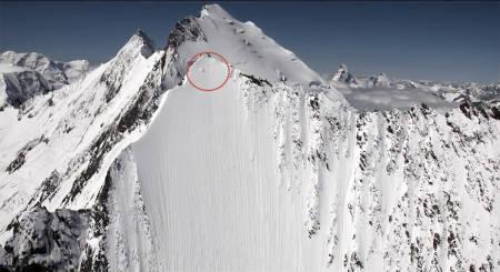 BRATT: Sjekk Jérémie Heitz i denne fjellsiden. Foto: Skjermdump